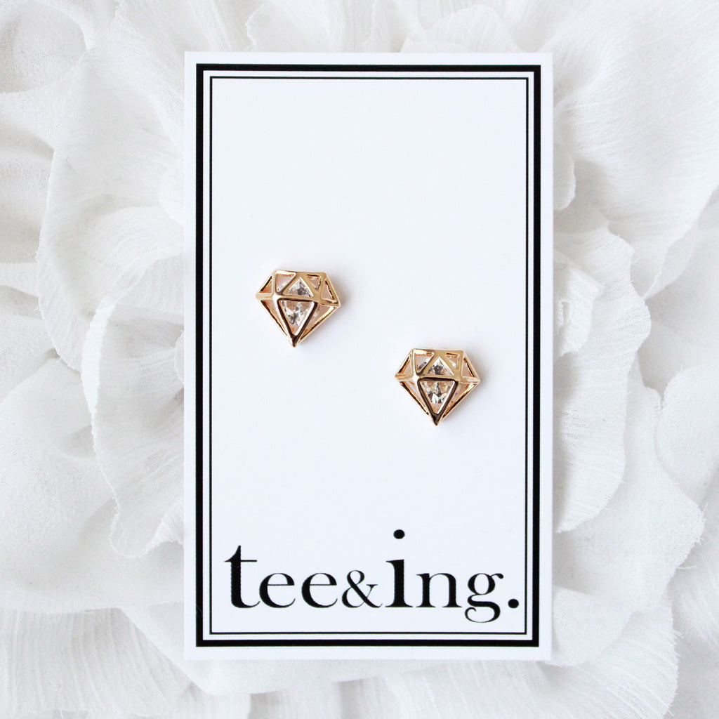 Diamond earrings - tee & ing. - 2