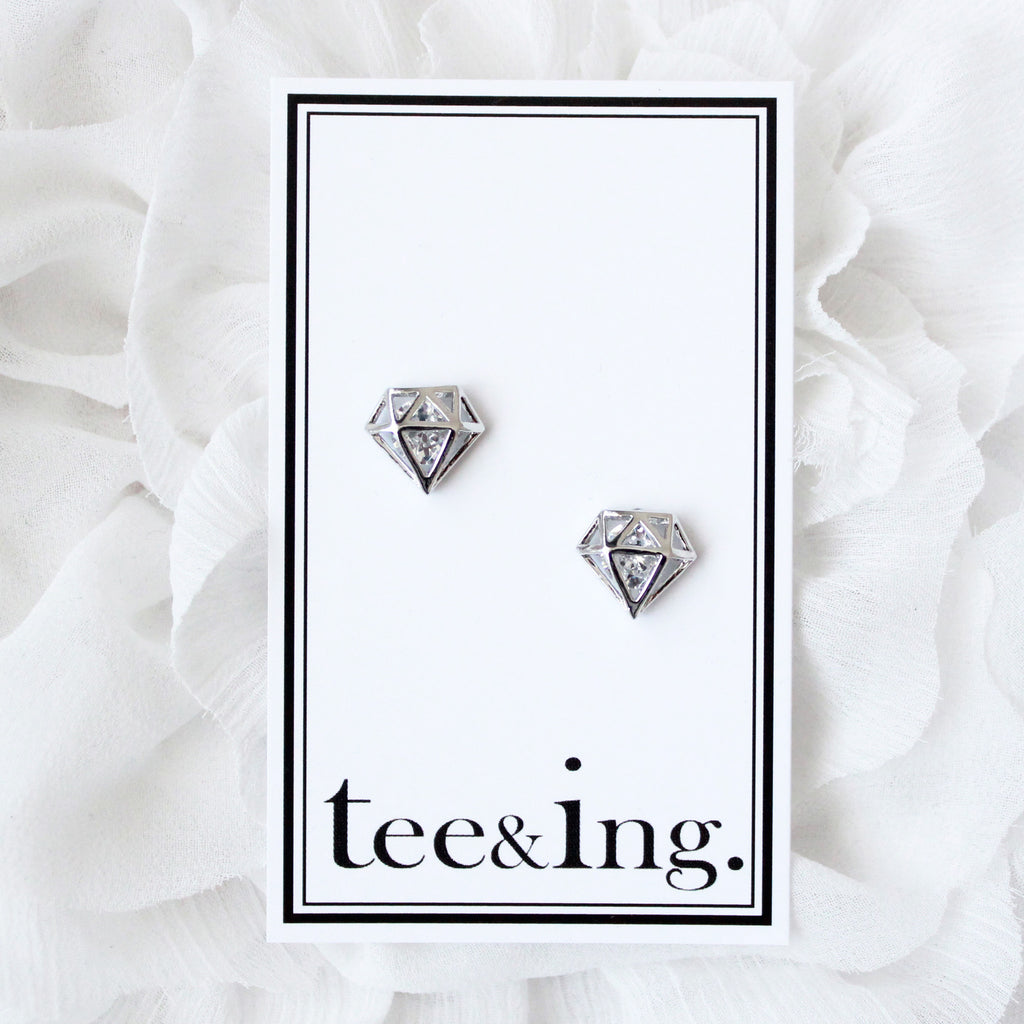 Diamond earrings - tee & ing. - 3
