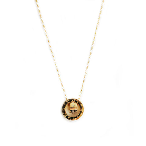 Galleria Roman Numeral Pendant Necklace - 18k gold plated