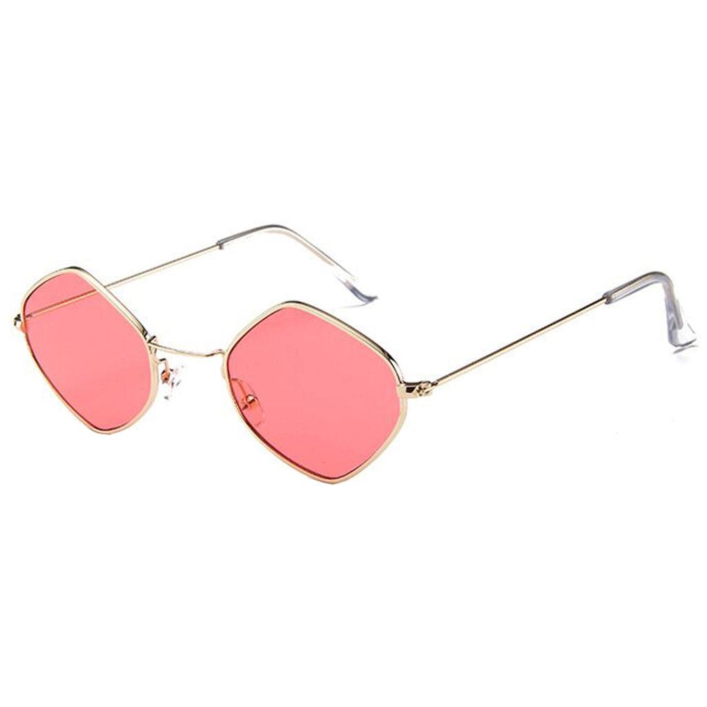 Geo Sunglasses Red/Gold