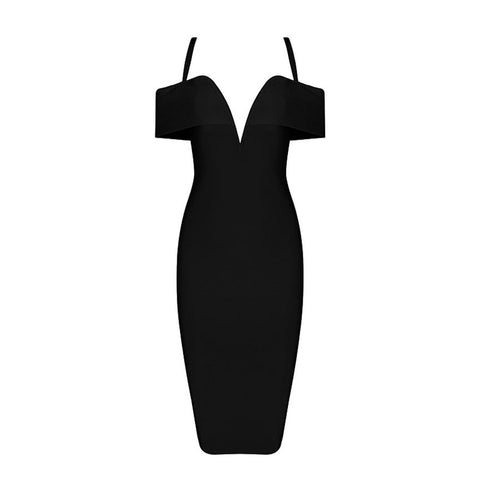 Hanna Bandage Dress - Black