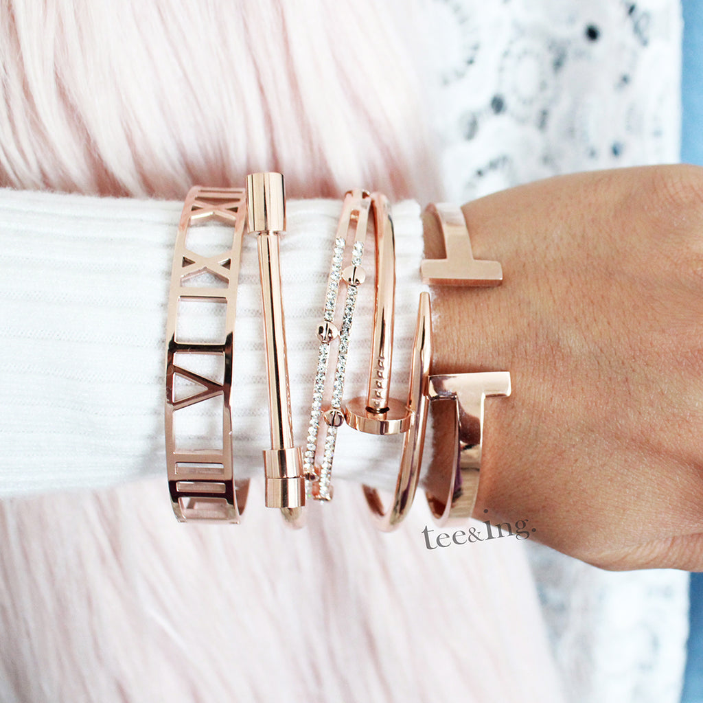 Cupid Bangle Rose gold