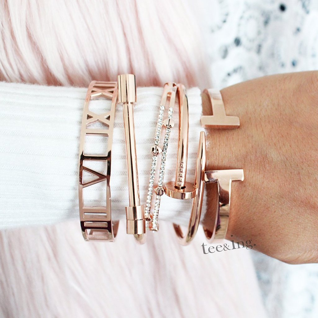 Royalty Bangle Rose Gold