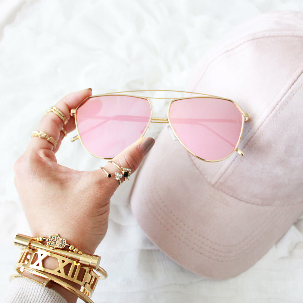 Aviator Sunglasses Rose Gold