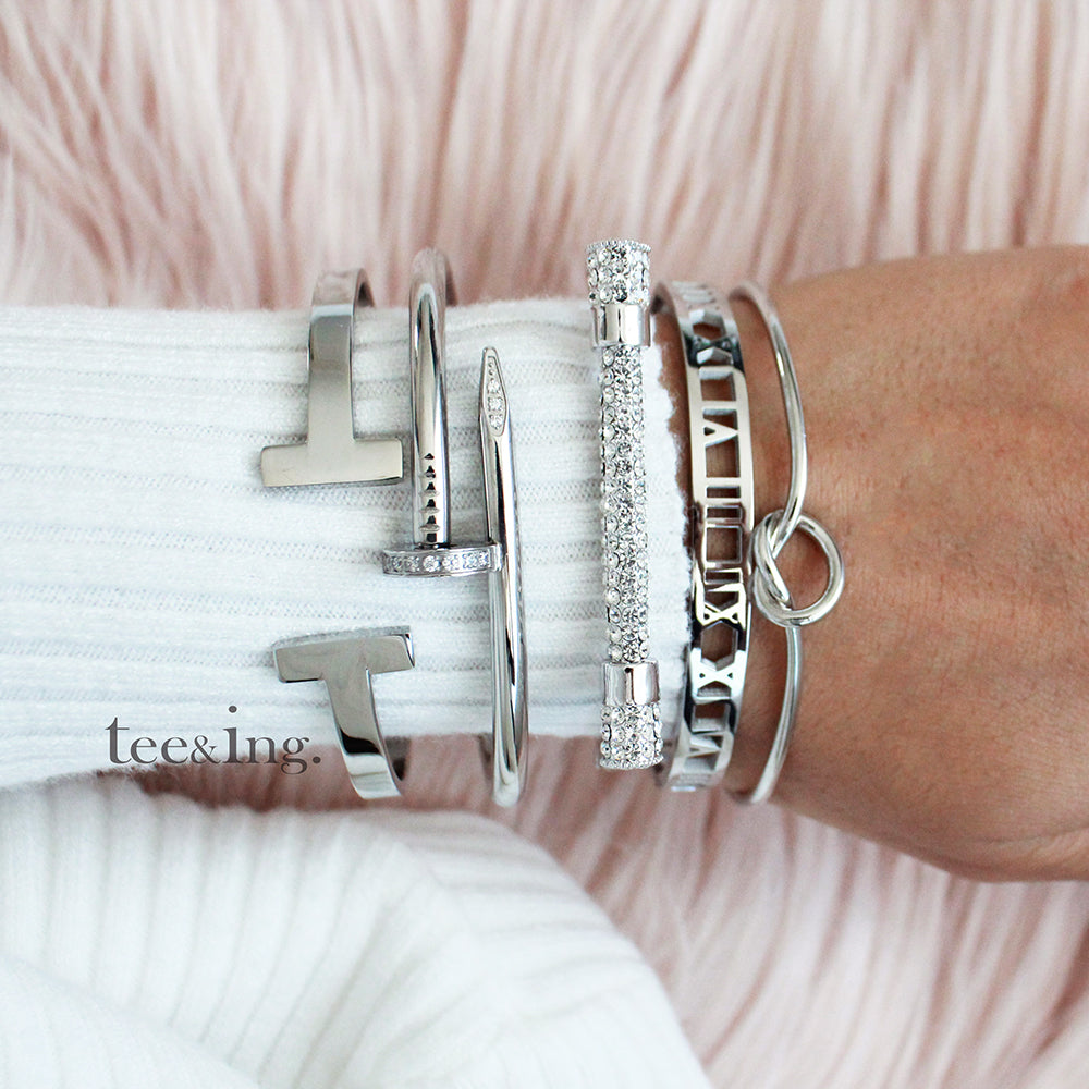 Cupid Bangle Silver