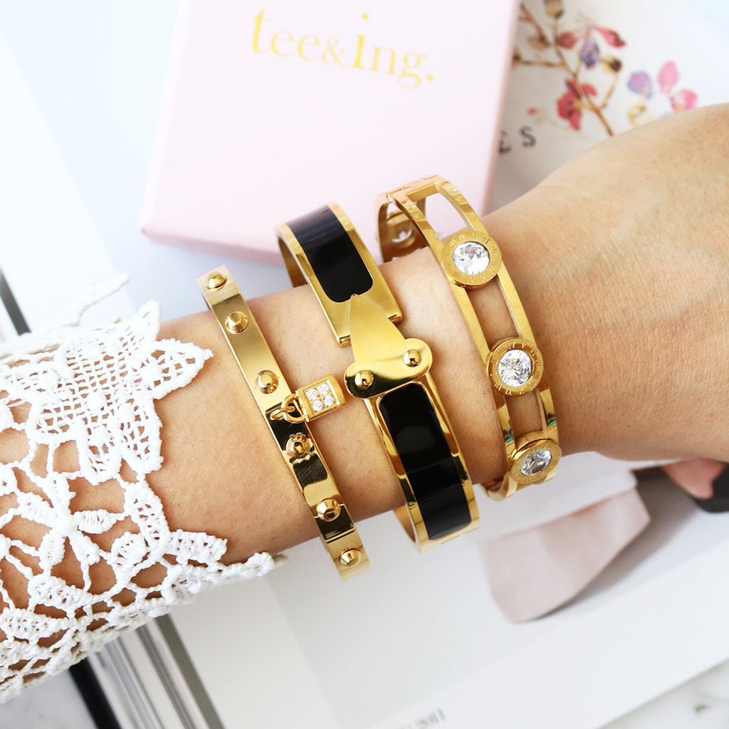 Elevate Bangle Black & Gold