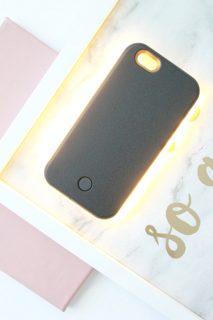 Selfie illuminated Iphone 6 Case - Black - tee & ing. - 3