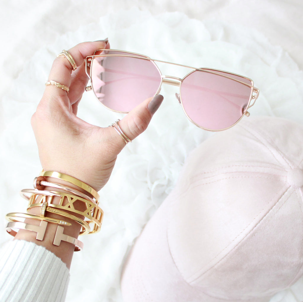 London Sunglasses Rose gold