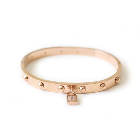 Fiery Bangle Rose Gold