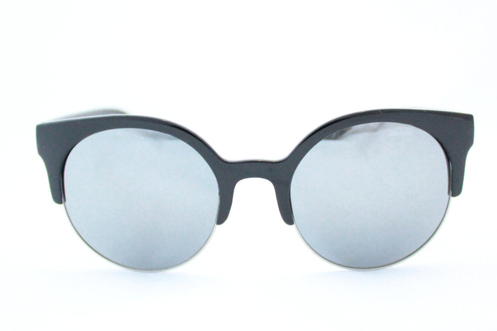 Lola Sunglasses Black Mirrored -  - 1