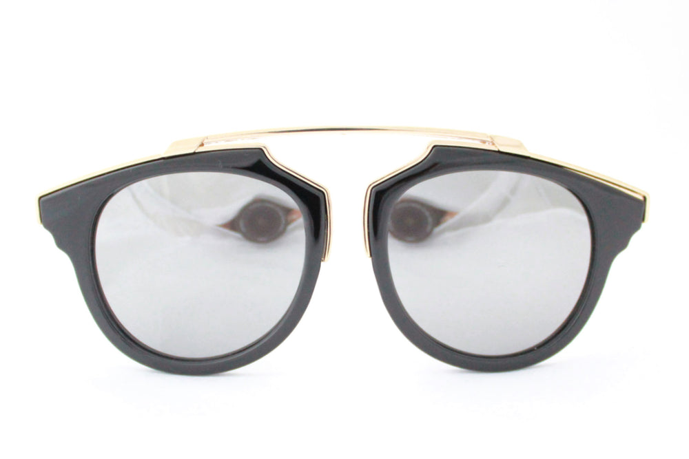 Kate Sunglasses Black/Gold Mirrored