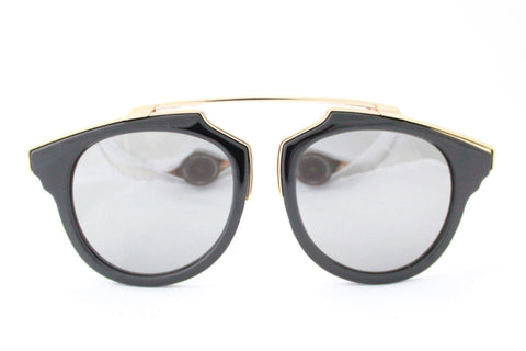 Kate Sunglasses Black/Gold Mirrored -  - 1