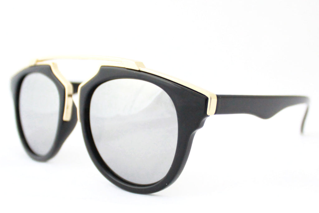 Kate Sunglasses Black/Gold Mirrored -  - 2