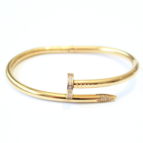 Crystal Thick Nail bangle Gold -  - 1