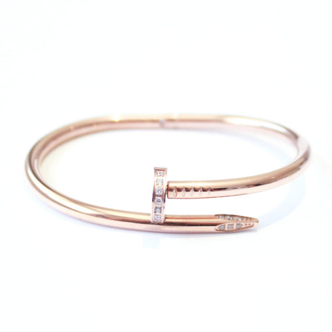 Crystal Thick Nail bangle Rose Gold -  - 1
