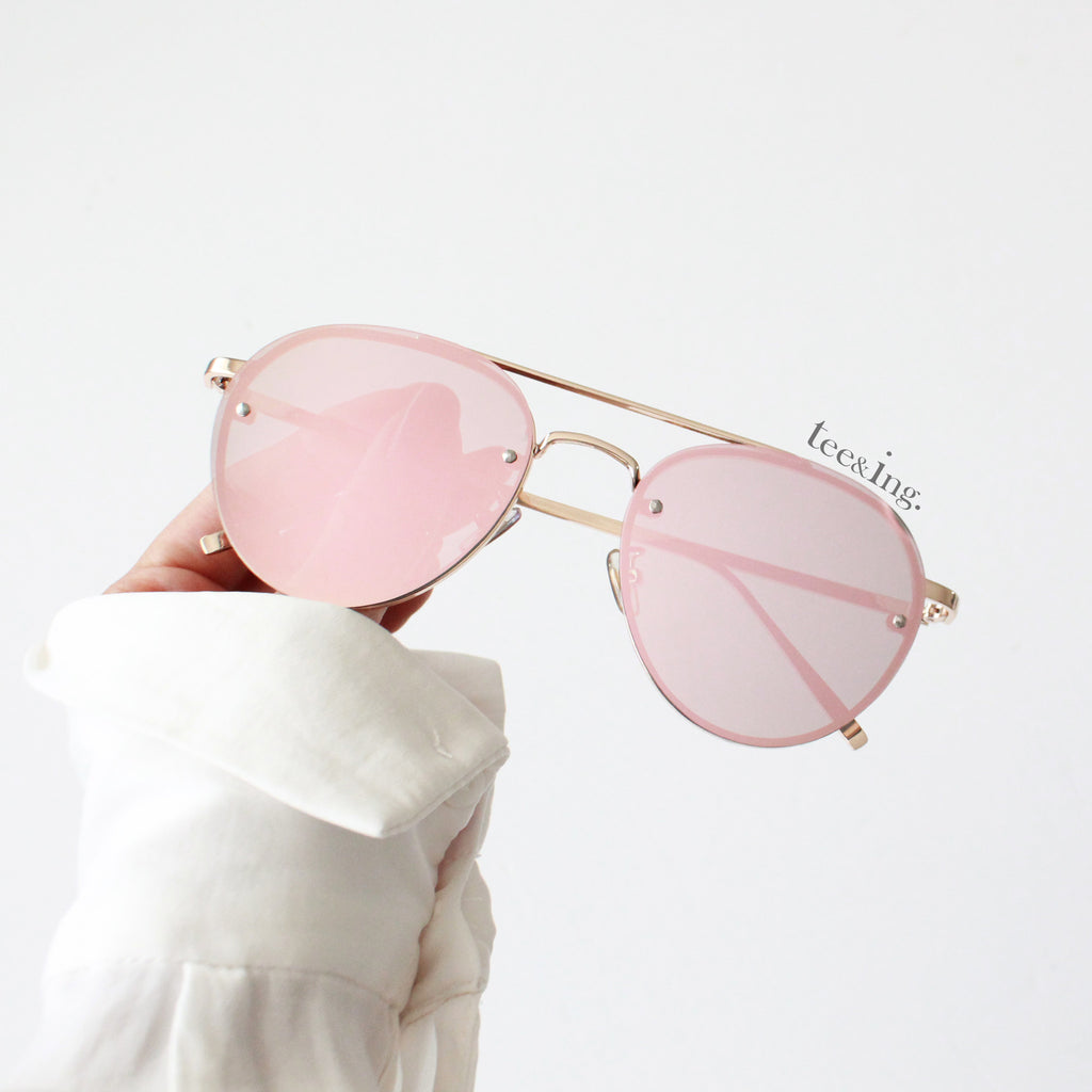 Monte Carlo Sunglasses Rose gold