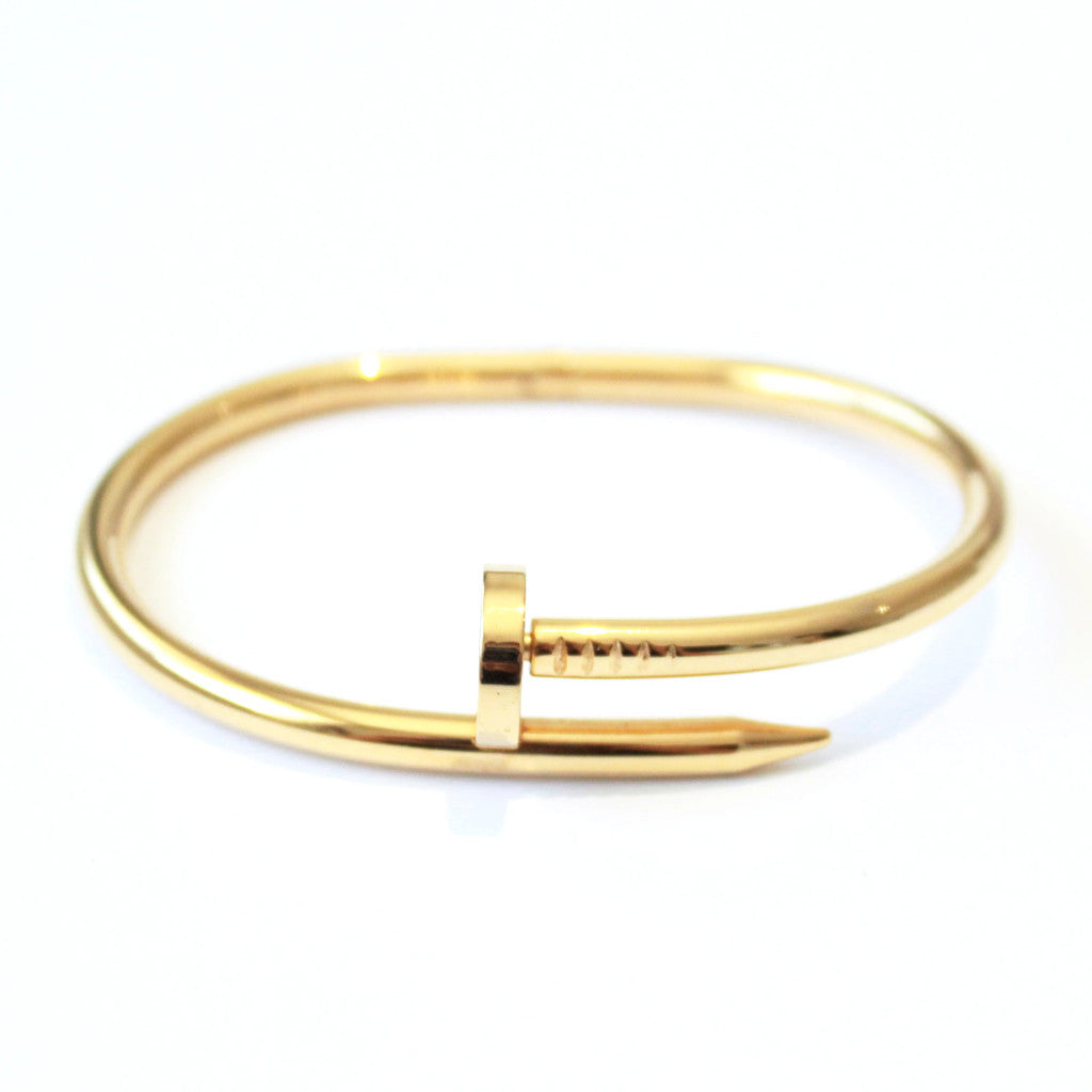 Thick Nail bangle Gold -  - 1