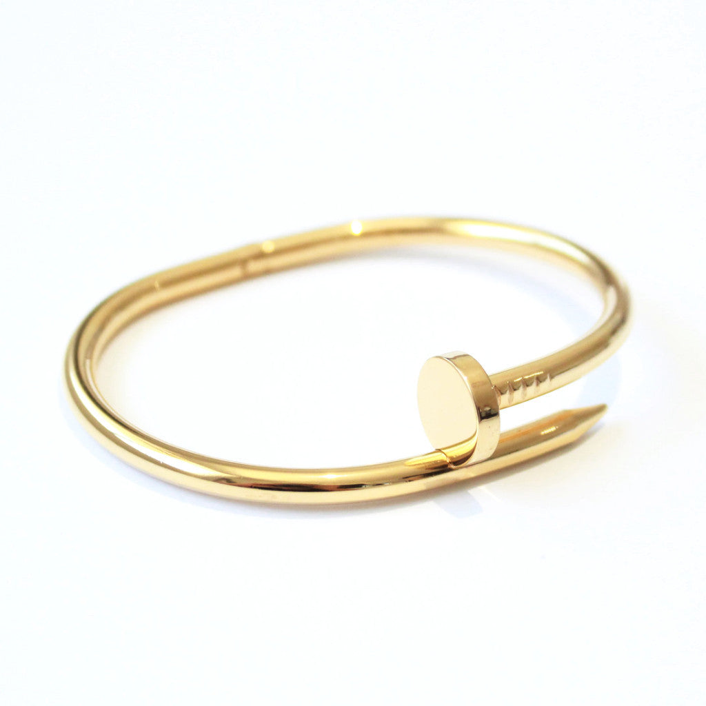 Thick Nail bangle Gold -  - 2
