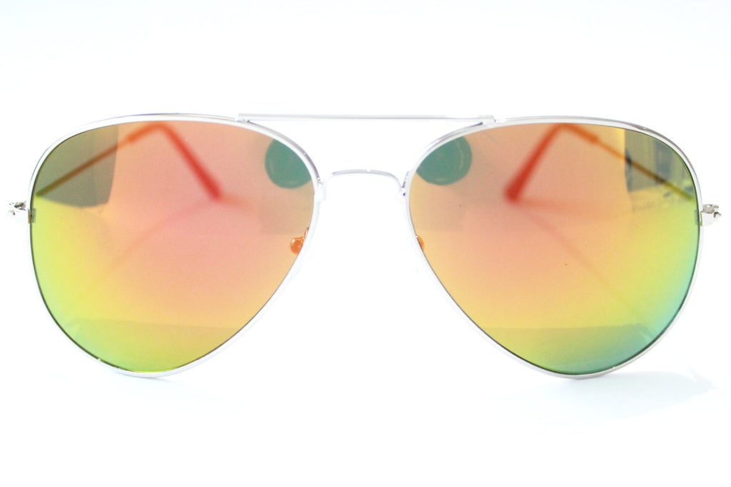 The Pilot Sunglasses Green/Orange Mirrored -