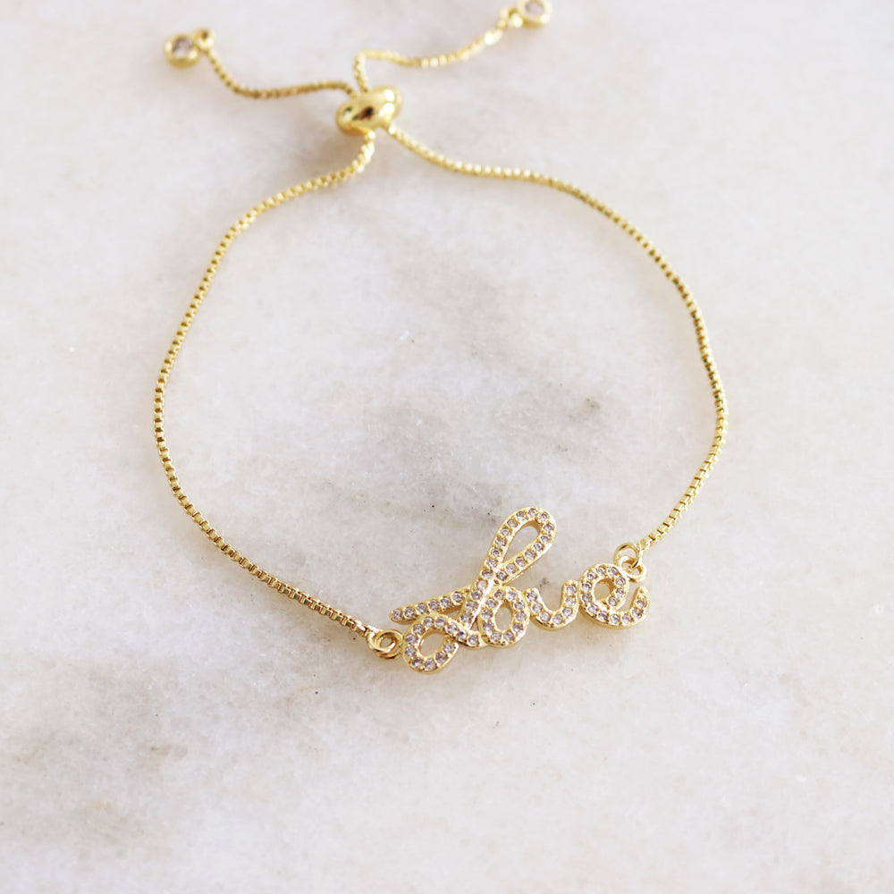 Spread Love Bracelet Gold
