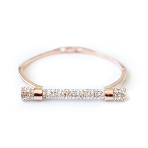 Kiki Bangle Crystal Rose Gold
