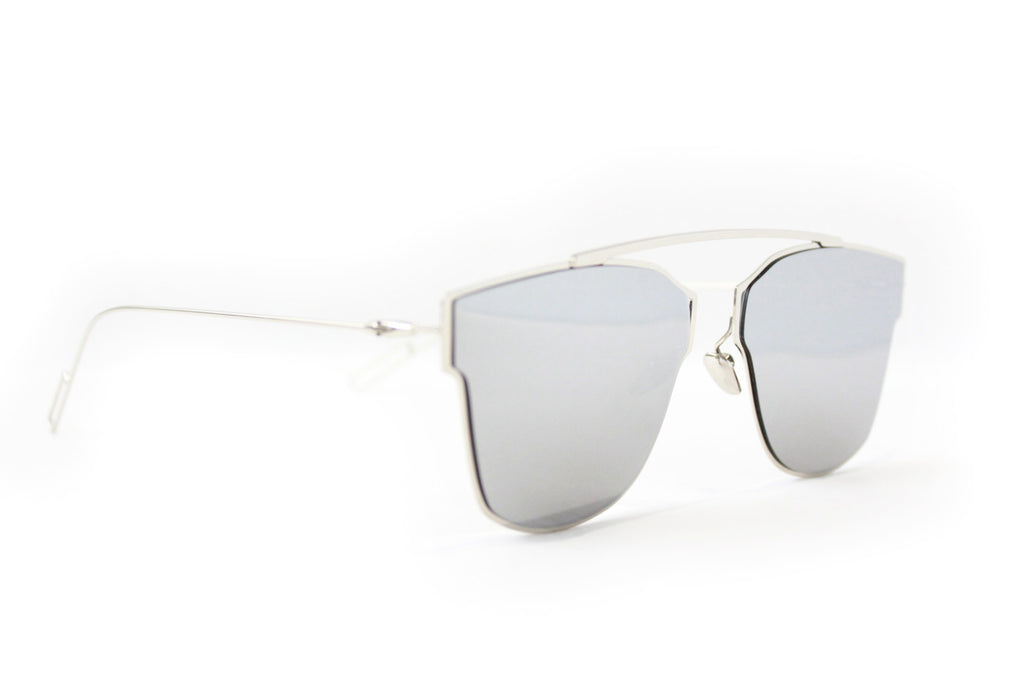 L.A Sunglasses Silver Mirrored - tee & ing. - 2