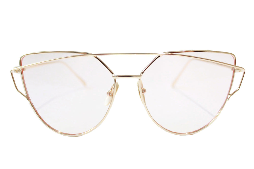 London Sunglasses - Translucent lens/gold frame