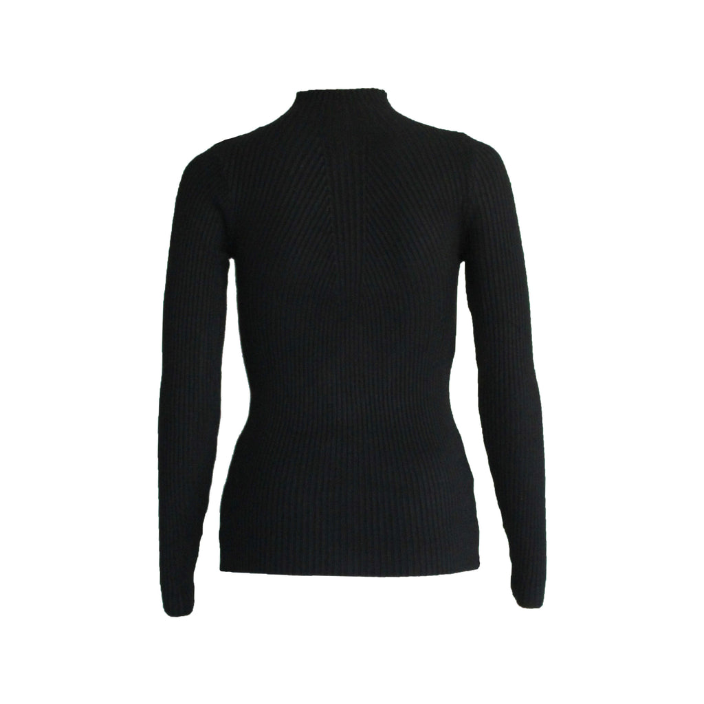 Savannah long sleeve knit top Black