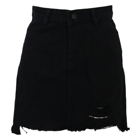 Melrose Denim Skirt Black