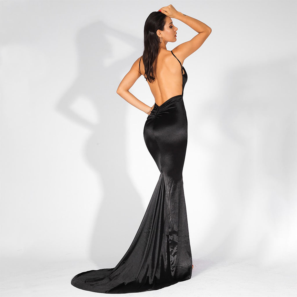 Paramount Backless Evening Gown - Black *SPECIAL ORDER*