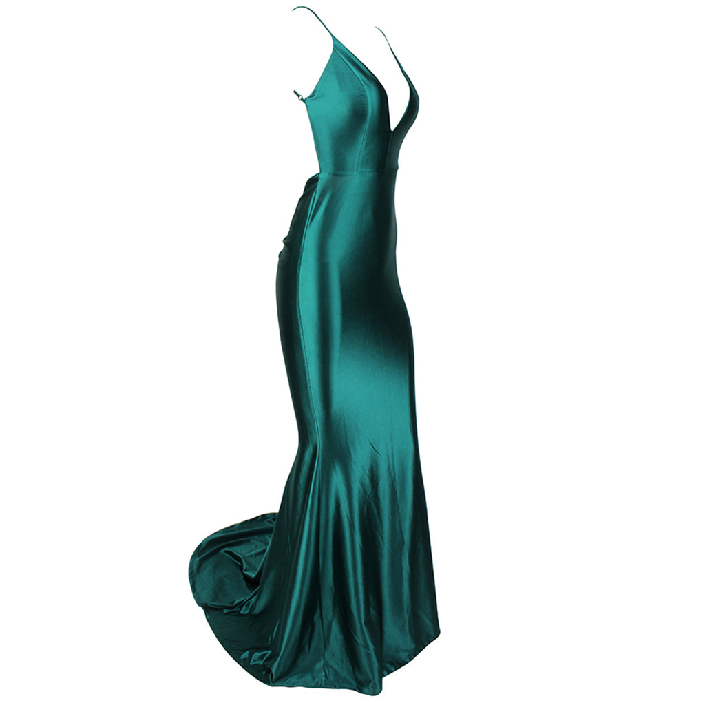 Paramount Backless Evening Gown - Emerald Green *SPECIAL ORDER*