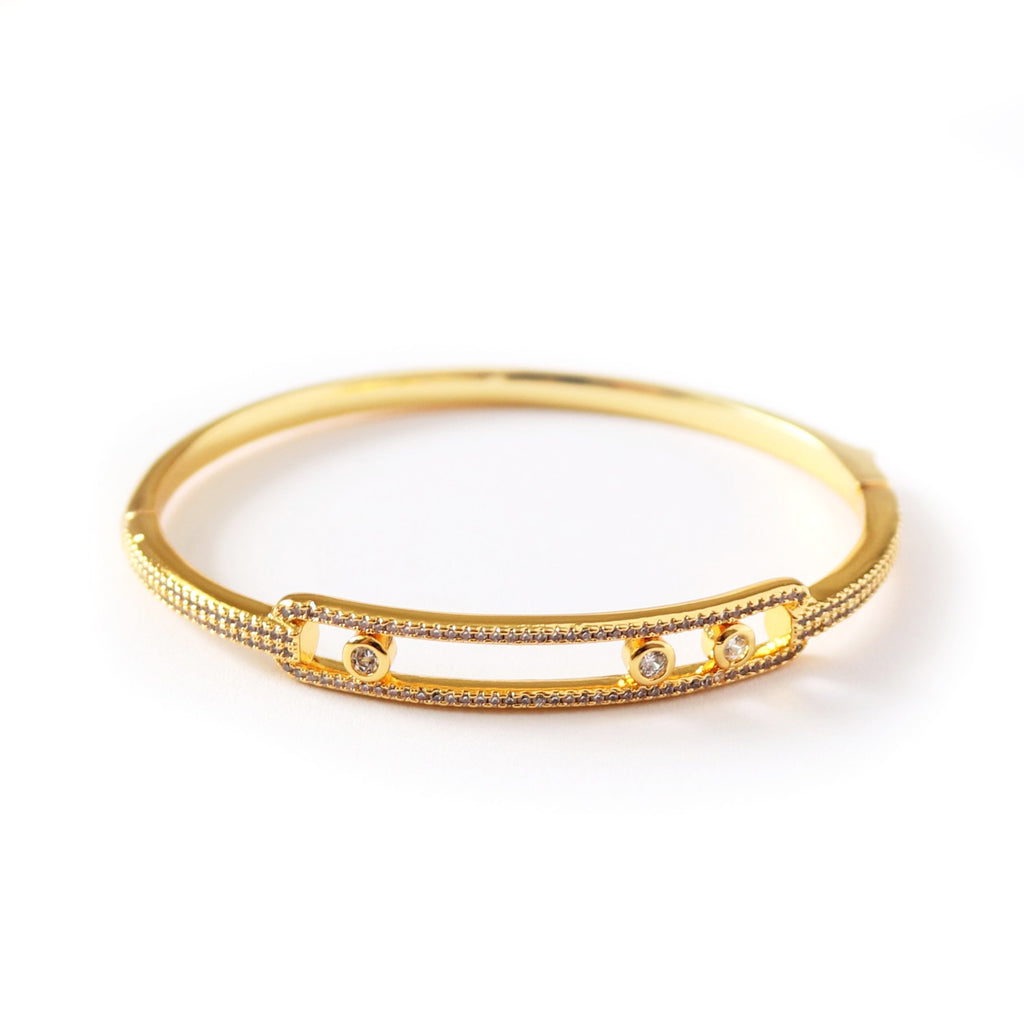Solitaire Bangle Gold