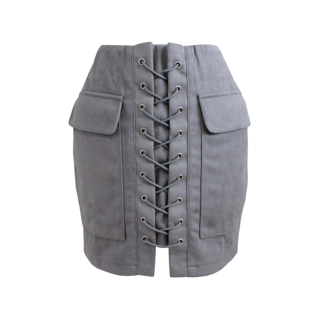 Candice Skirt - Charcoal Grey