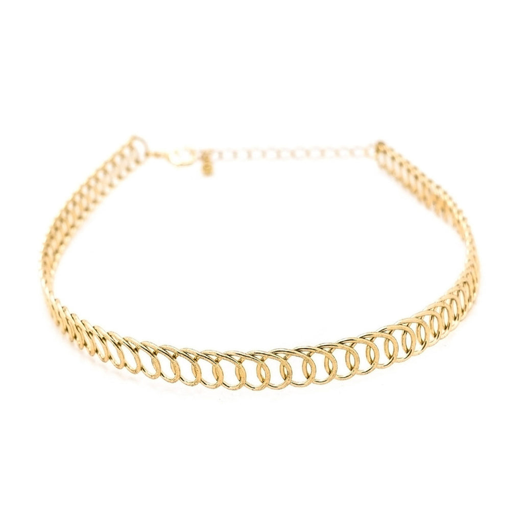 Crush choker Gold