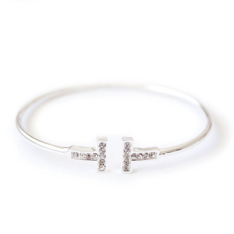 Eternal bangle silver