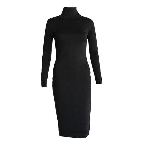 Paige Long Sleeve Dress- Black