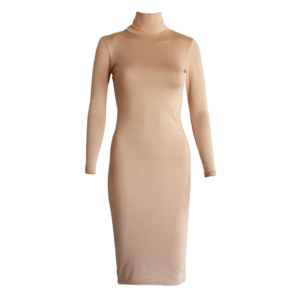 Paige Long Sleeve Dress - Tan