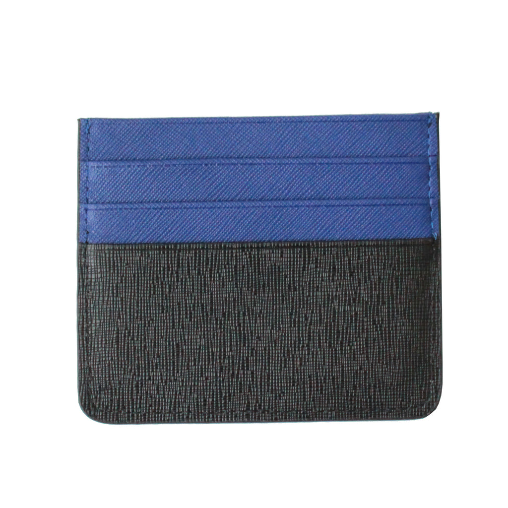 Monster card holder - Blue (100% Taiga leather)