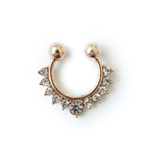 Lily faux septum nose ring gold - tee & ing.