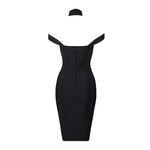 Aubrey High Neck Choker Bandage Dress
