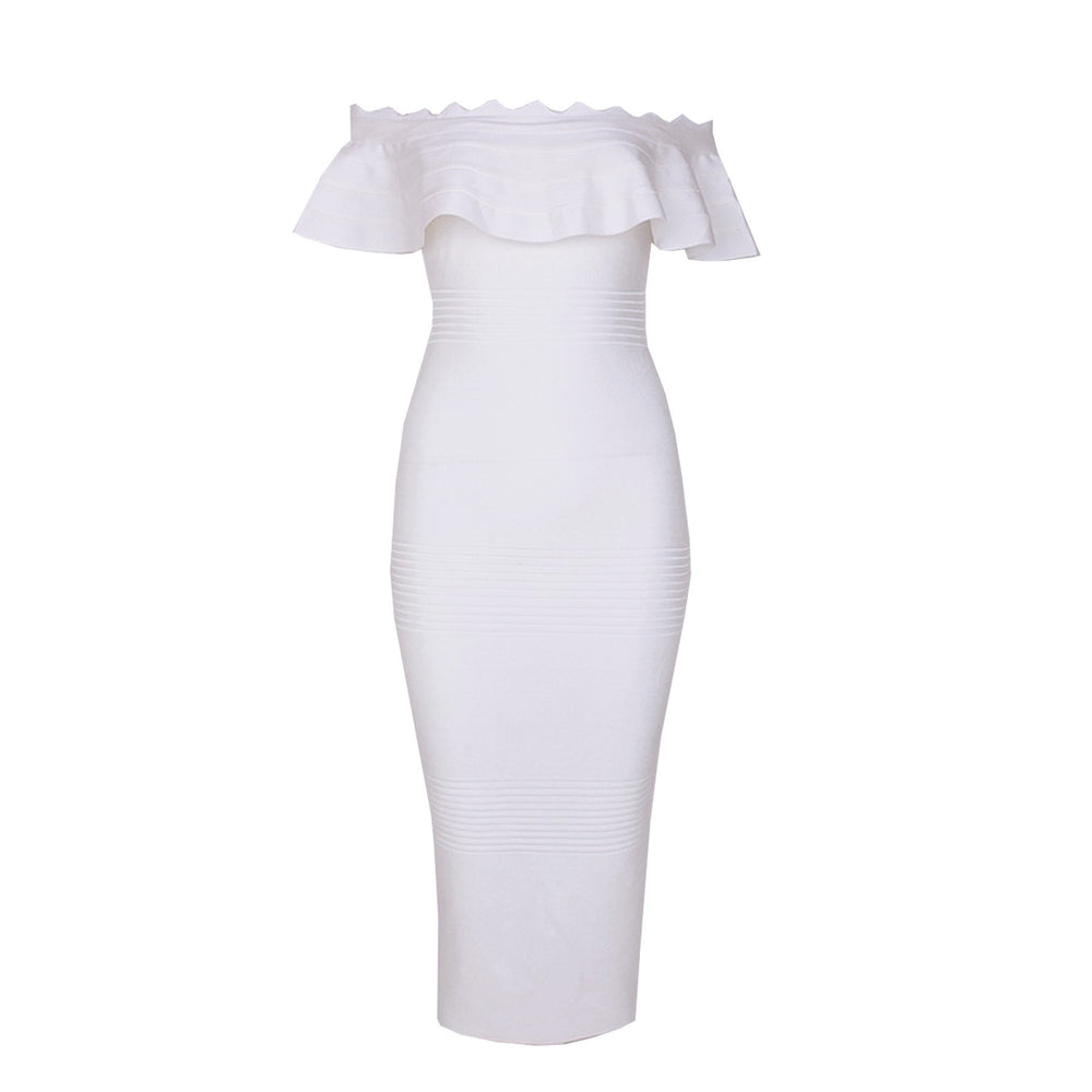 Hailey Bandage Dress - White