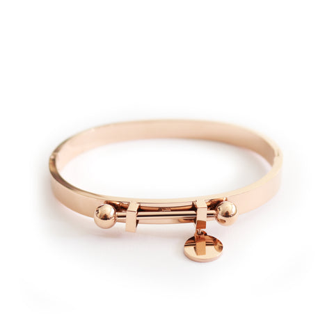 Orbit Bangle Rose Gold