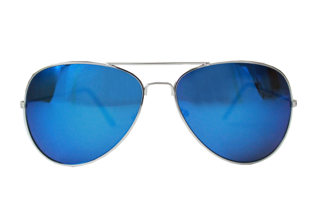 Pilot Sunglasses Blue Mirrored -