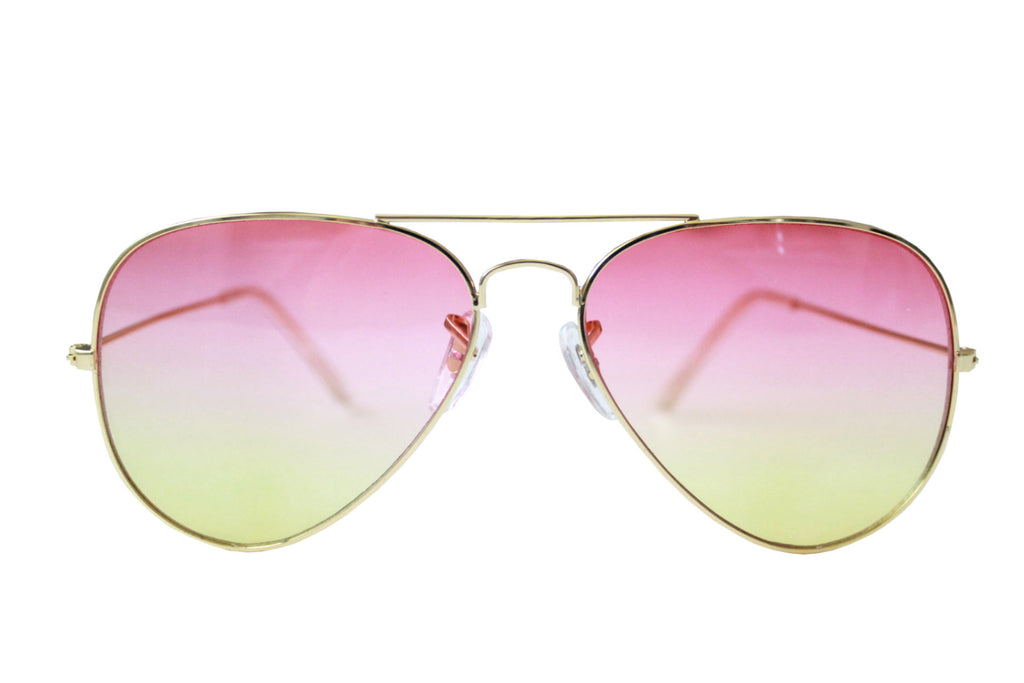 Pilot Sunglasses Pink/yellow gradient - tee & ing.