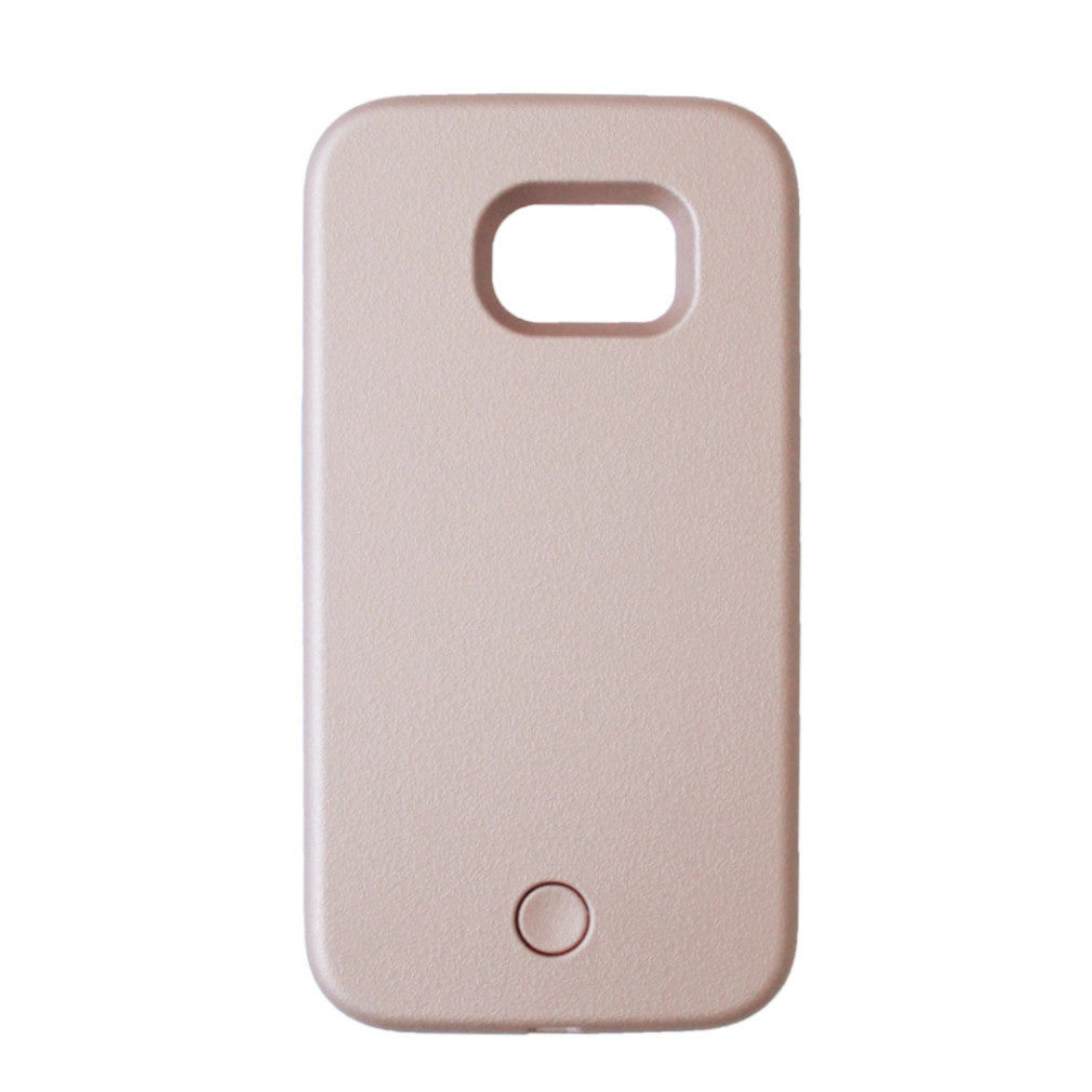 Selfie illuminated phone case - Samsung S7 - Rose Gold Matte - tee & ing.