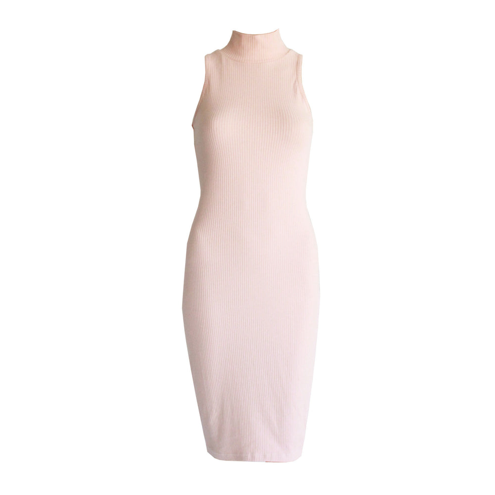 Willow Ribbed Dress - Nude