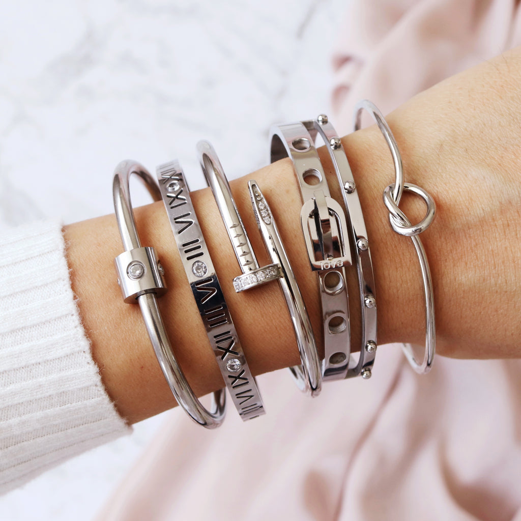 Toujours Bangle Silver