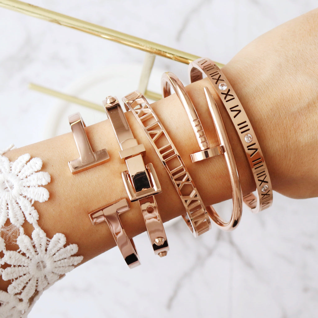 Toujours Bangle Rose Gold