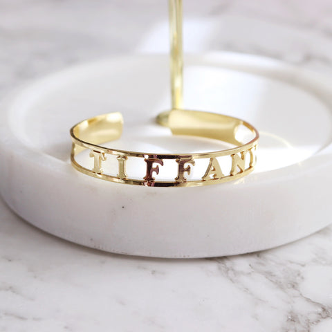 Personalised Name Cuff Bangle