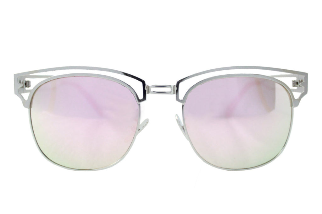 Tokyo Sunglasses Silver/pink - tee & ing.